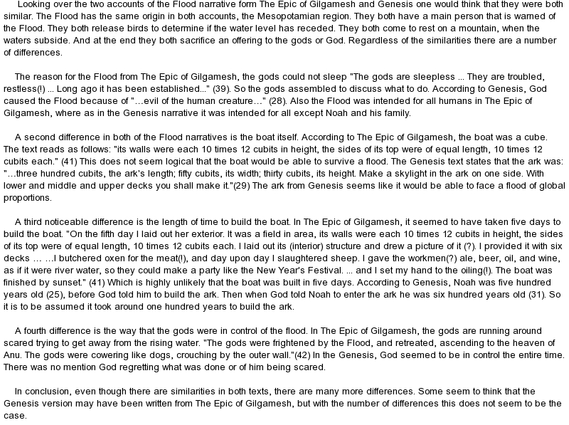 comparison of the gilgamesh epic and