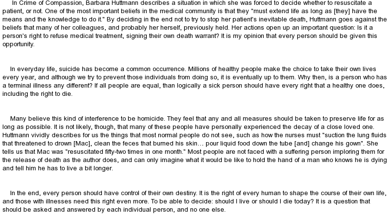 Essay about compassion