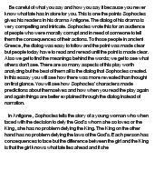 Antigone critical essay