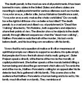 dead man walking the death penalty Dead man walking: the eyewitness account of the death penalty that sparked a national debate [helen prejean, archbishop desmond tutu, susan sarandon, tim robbins] on amazoncom free shipping on qualifying offers.