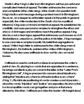 essay on letter to birmingham jail
