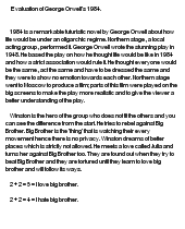 """george orwells 1984 essays In the book """"1984"""" written by george orwell in 1948, the proles are presented as an impoverished, powerless and massive group of people nevertheless, they are free, unlike the rest of."""