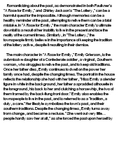 """an analysis of the symbolism used in shirley jacksons the lottery Esther 1 lisa esther yanover english 121 section # sample literary analysis essay about shirley jackson's """"the lottery"""" 19 aug 2014."""