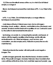 fly away peter essay Fly away peter term papers available at planet paperscom, the largest free term paper community.