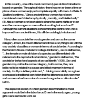 Business Ethics and Gender Discrimination&nbspTerm Paper