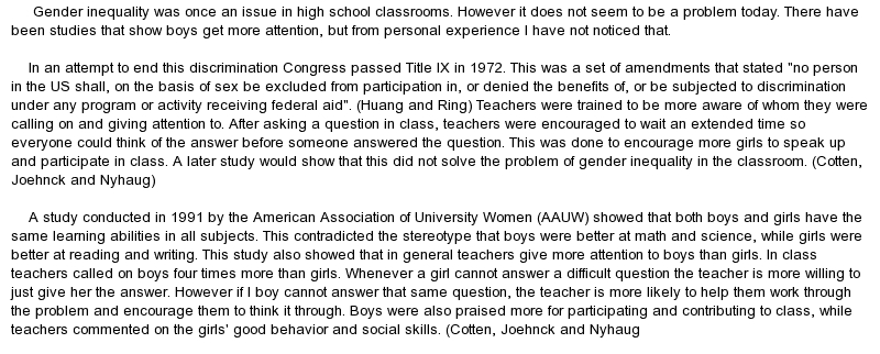 gender inequality essay sociology gender inequality term paper 16321