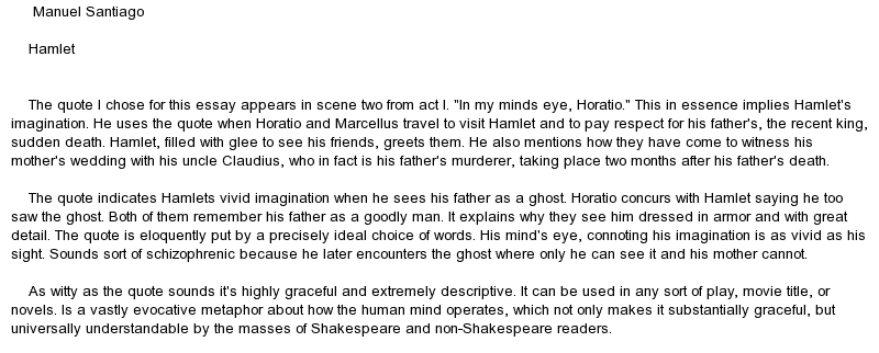 an analysis of the madness that spun hamlets life Drama analysis: soliloquy from hamlet in the soliloquy from william shakespeare's hamlet hamlet is contemplating to himself the meaning of existence and posing the question of whether or not to suffer life or to cut it short and cease the pain analysis of hamlet's soliloquy.