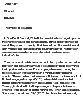 impact of television essay Some people claim that television is the root of all evil, while others think of television as a best friend some blame the television for society's violence, consumerism, and misinformation, while others see it as a rich resource for education and global understanding.