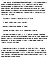 Phillis wheatley essay