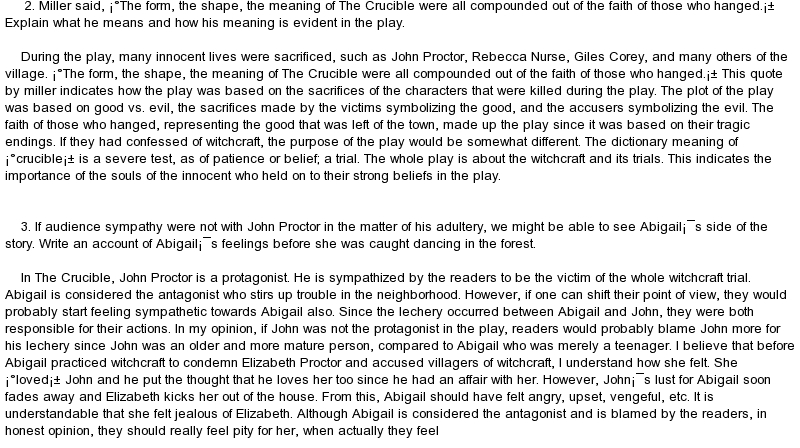 john proctor diary Free crucible john proctor papers, essays, and research papers.