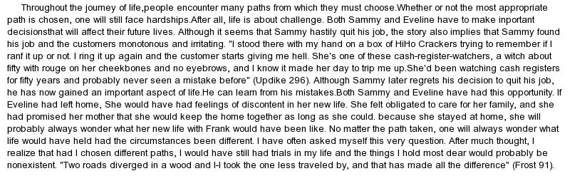 Eveline story essay