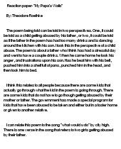 Essay on my papa's waltz