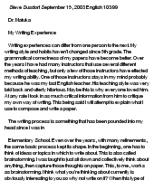 my prior writing experience essay How reading and writing have shaped my life the skills i acquired at that university have helped me greatly since from november, 1998, to july, 2000, i used my writing skills to make my goal, at present, is to use my experience to find steady employment in my new city of residence.