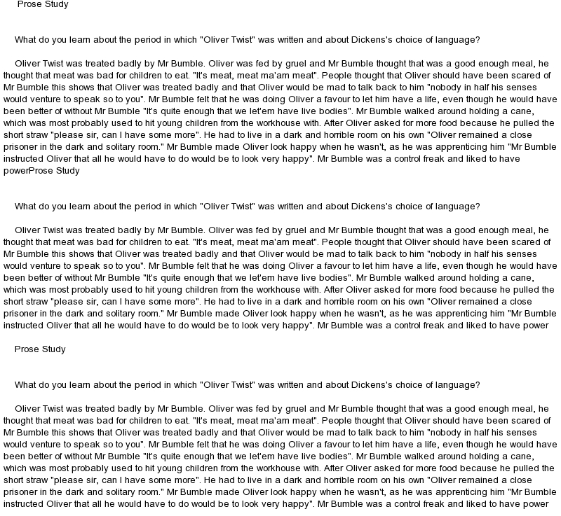 Oliver twist analysis essay