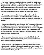 essay on antigone as a tragic hero