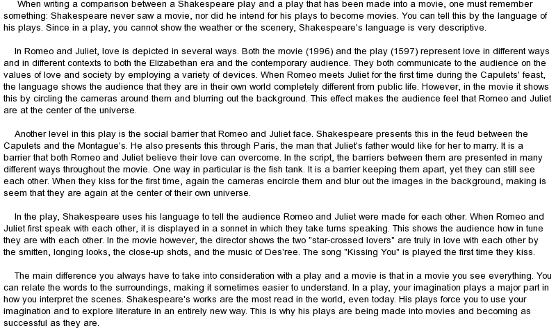 romeo and juliet draft Romeo and juliet essays are academic essays for citation these papers were written primarily by students and provide critical analysis of romeo and juliet by william.