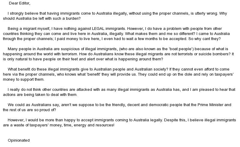 immigration to australia essay