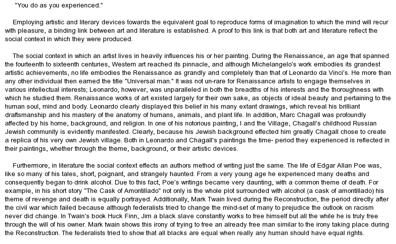 essay what is art for me Here are unedited emails sent from parents and students who wrote to me jessie i can't thank you enough for helping me with my personal statements for architecture school your quick feedback helped me focus my thoughts and better communicate why i wanted to go back to school i also really appreciate your.
