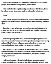 art morality essay