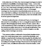 arranged marriages essay docoments ojazlink the joy luck club arranged marriage at com