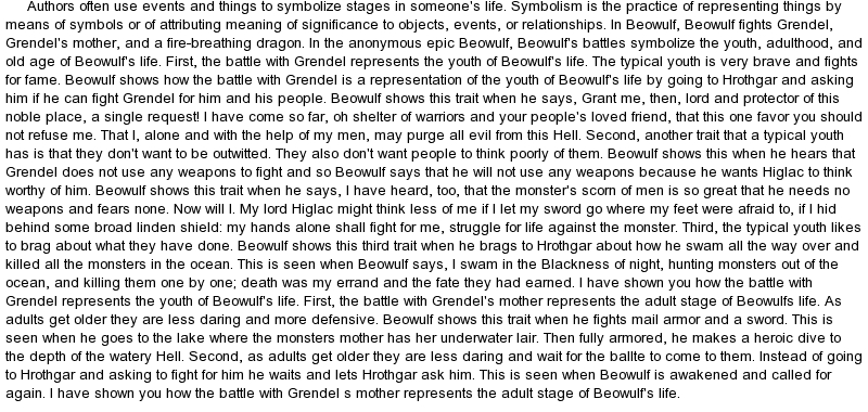 beowulf charater analysis essay