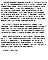excellent ideas for creating city of god essay essay 2 violence in city of god garrett gomez spanish