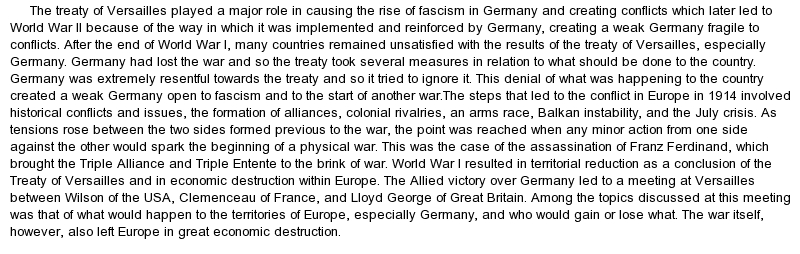 Essays on world war 1