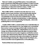 comparative essay on plato and aristotle Strong essays: plato and aristotle's definition of art - two and a half centuries ago (ne viii10, 1160b) [tags: comparative analysis, political.