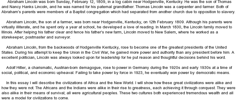 abraham lincolns presidency essay Abraham lincoln essay 8 abraham lincoln was the 16th president of the united states he was one of the best presidents that the us had lincoln was born february 12, 1809 and was assassinated april 14, 1865, and was pronounced dead april 15, 1865 at 7:22 am abraham lincoln was an outstanding citizen, and his actions and contributions continue to influence the citizens of our country and our.