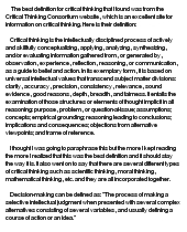 Critical thinking decision making essay