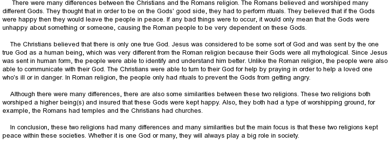 roman barbarians and christians essay Christianity in the roman empire essay who were extreme with their opinions and were ruining the stability of the roman empire, such as christians.