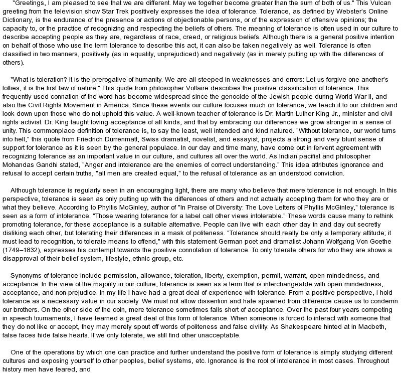 Definitional argument essay