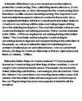 Essays on Flag burning