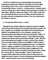 essay on discourse memory