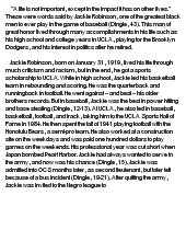 Persuasive essay on jackie robinson