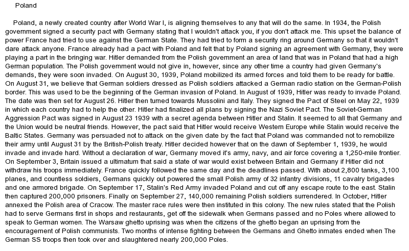poland essay Polish constitution of may 3, 1791 furthermore, the emphasis of this essay will  be disposed of in a different manner than in the above mentioned studies the.