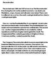 reconstruction after the civil war essay civil war reconstruction dbq college essay reconstruction after