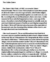 Salem witch trial essay