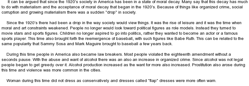 america during the 1920s essay America is the most powerful country in the world and prides itself in being a 'melting pot' of different cultures but has that always been true of america i would like to argue that during the 1920's america became less tolerant of anything un-american i would like to mention immigration.