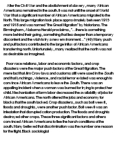 the great migration essay View notes - great migration essay from his 112 at suny buffalo state college gino nadela us history ii 22013 essay question: based on the introduction and primary.
