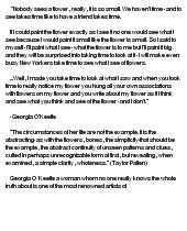 Georgia o'keeffe essay