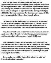 essay on What happened to Germany after WW1, why did this happen and ...