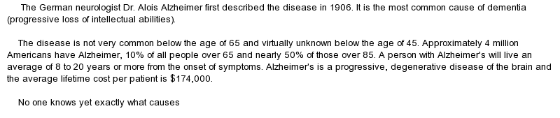 alzheimers essay thesis