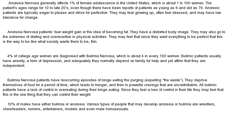 anorexia paper 12 Anorexia nervosa research paper uploaded  anorexia nervosa is an eating  disorder that is distinguished by extreme weight loss or  accessed 12 oct 2017.