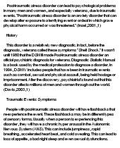 essay on Post-Traumatic Stress Disorder