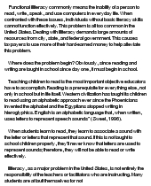 illiteracy essay