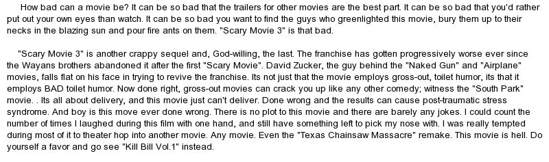 scary movies essay I used to hate horror films, and would refuse to watch them as i didn't understand  why anyone would want to scare themselves on purpose but now i love them,.