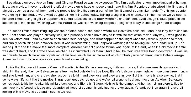 Essay On Indian Cinema