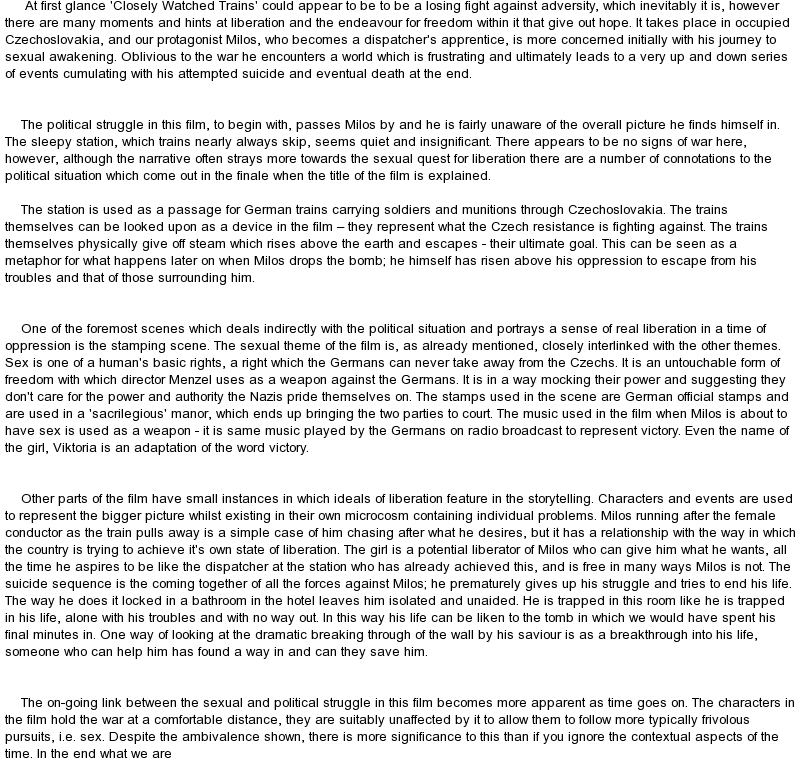 Individual and political freedom essay