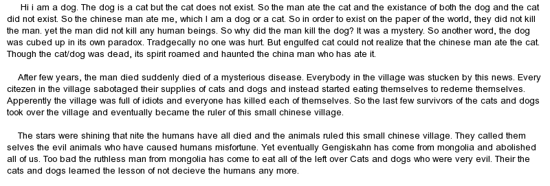 Essay on cats and dogs